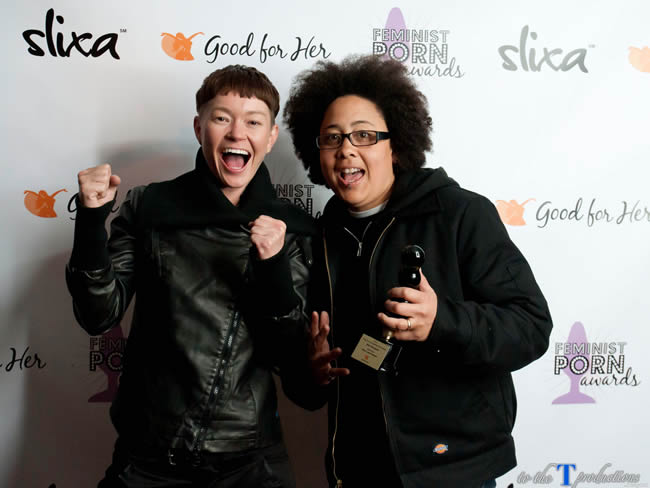 Jiz Lee and Shine Louise Houston from Pink and White Productions at the 2014 Feminist Porn Awards